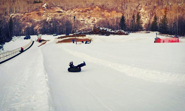 Nitehawk Recreation Area - Grande Prairie: Lift Ticket for Two with Optional Equipment, or Tube Park Admission for Two at Nitehawk Recreation Area (Up to 61% Off)