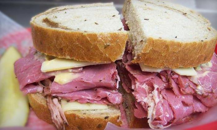 Brooklyn Deli - Multiple Locations: Sandwiches and Deli Fare for Dinner or Breakfast or Lunch at Brooklyn Deli (Half Off)