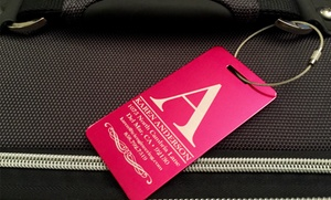 American Laser Crafts: One or Two Personalized Aluminum Luggage Tags from American Laser Crafts (Up to 75% Off)