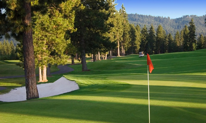 The Highlands Golf Course - Post Falls: 18 Holes of Golf with Cart Rental for Two at The Highlands Golf Course (Up to 34%Off)