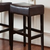 Set of Two Duff Leather Barstools