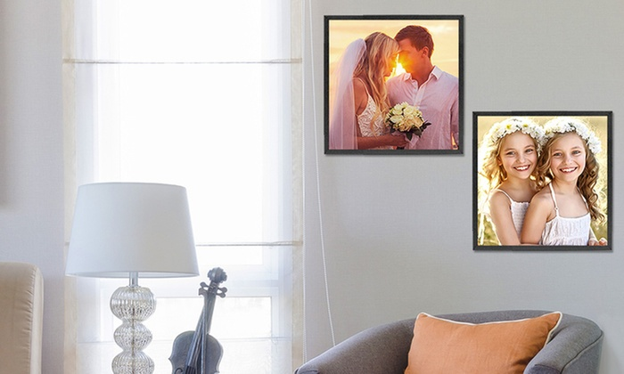 Picture It On Canvas: Custom Square Gloss Poster from Picture It On Canvas (Up to 71% Off). Four Options Available.