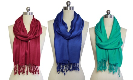 Solid Pashmina Scarf Set (2-Pack)