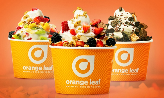 Orange Leaf Frozen Yogurt - Rochester Hills: $15 for Three Groupons, Each Good for $10 Worth of Frozen Treats at Orange Leaf Frozen Yogurt ($30 Value)