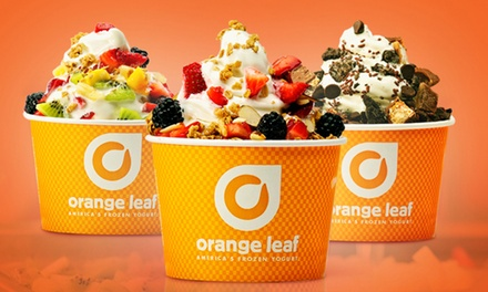 $15 for Three Groupons, Each Good for $10 Worth of Frozen Treats at Orange Leaf Frozen Yogurt ($30 Value)