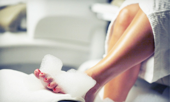 Valley Nails and Facial Spa - McHenry: $19 for an Aloe-Vera Peppermint Pedicure at Valley Nails and Facial Spa ($40 Value)