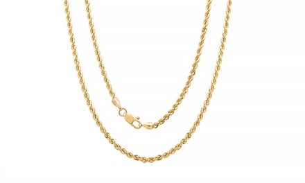 Rope Chain Necklaces in 14K Solid Gold