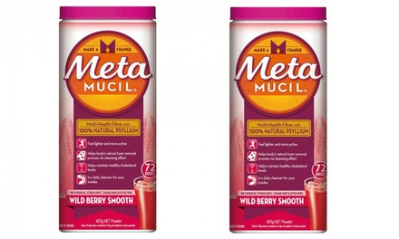 Meta MUCIL Daily Fibre Supplements, Wild Berry, 425g: Two ($19.95) or Four ($34.95) (Don't Pay up to $95.96)