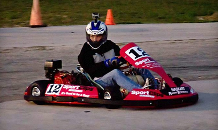 On Track Xperience - Central Texas Speedway: Three-Race Go-Kart Package for One or Two at On Track Xperience (Up to 54% Off)