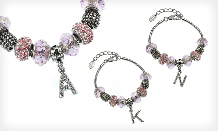 Charmed Feelings Personalized Initial Bracelet: $14.99 for a Charmed Feelings Personalized Initial Bracelet ($49.99 List Price)