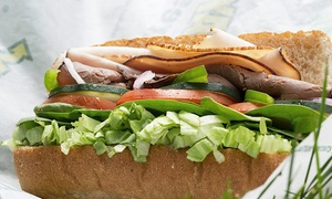 Subway: $25 for Five Groupons, Each Good for One Footlong Sandwich at Subway (Up to $40 Total Value)