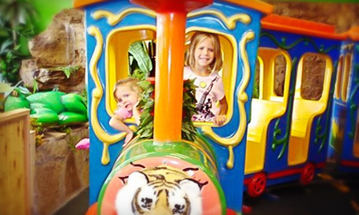 Indoor Safari Park - Plano: $5 for Kids' Play Pass with Rides and Access to Jungle Gyms at Indoor Safari Park ($9.99 Value)