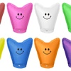 Heart-Shaped Smiley Sky Lanterns (24-Pack)