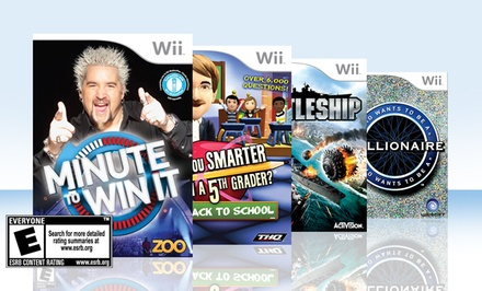 4-Game Kids' Game-Show Bundle for Nintendo Wii. Free Returns.