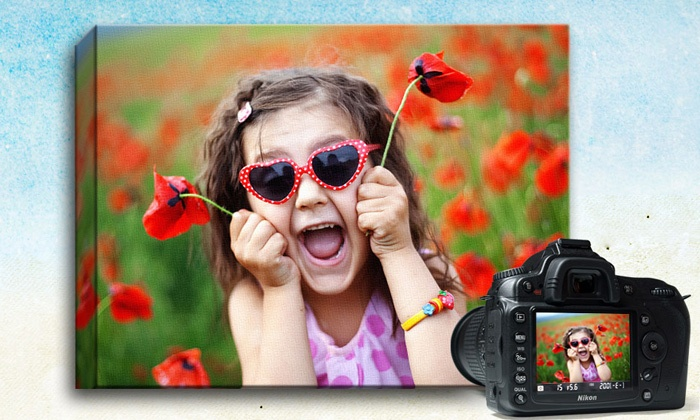 "Picture it on Canvas **NAT**: $26.99 for a 16""x20"" Custom Photo Canvas from Picture It On Canvas ($110 Value)"