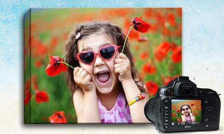 "$26.99 for a 16""x20"" Custom Photo Canvas from Picture It On Canvas ($110 Value)"