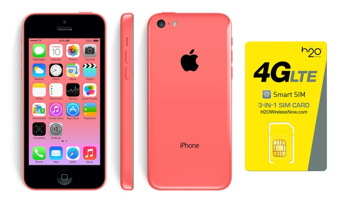 h2o wireless iphone up to 62 on h20 wireless apple iphone 5c groupon goods 5701
