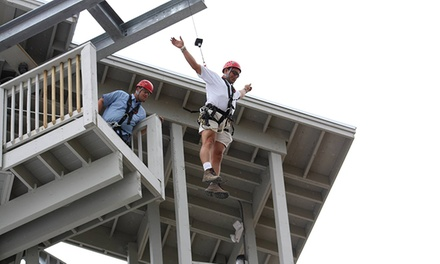 $29 for a Zipline Ride and Free Fall for Two at Myrtle Beach Zipline Adventures ($58 Value)