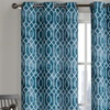 """Pair of Geometric-Pattern Curtains 84"""" or 96"""" Long"""