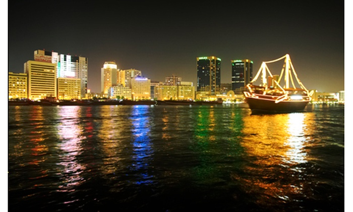 Ashok Tours - Deira: 2-hour Dinner Dhow Cruise along Dubai Creek starting from AED 79 [Up to 65% off]