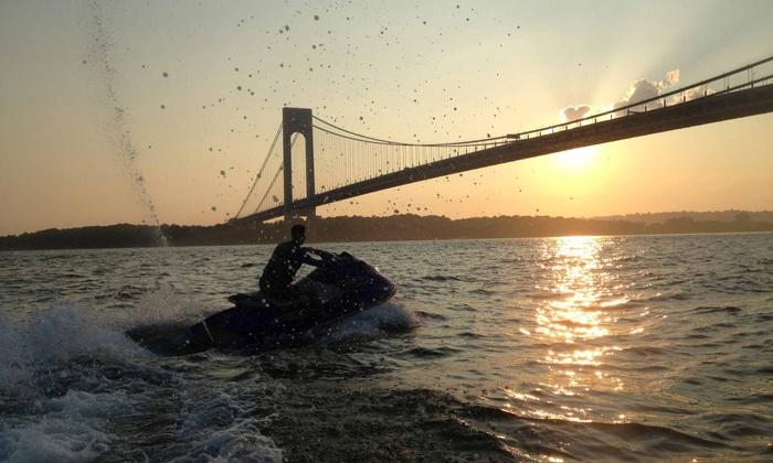 New York Harbor Jetski - The Shipyard Marina: 60- or 90-Minute Jet Ski Rental and Tour for Two or Four from New York Harbor Jet Ski (Up to 55% Off)