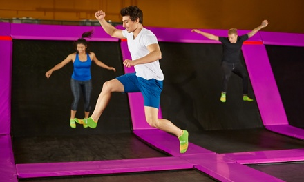 Trampoline Entry People One $79 or Two Hours $139 at Flip Out Castle Hill Up to $240 Value