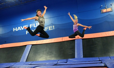 Two 60-Minute Open-Jump Sessions Including Sky Socks at Sky Zone Riverside (Up to Half Off). Two Options Available.
