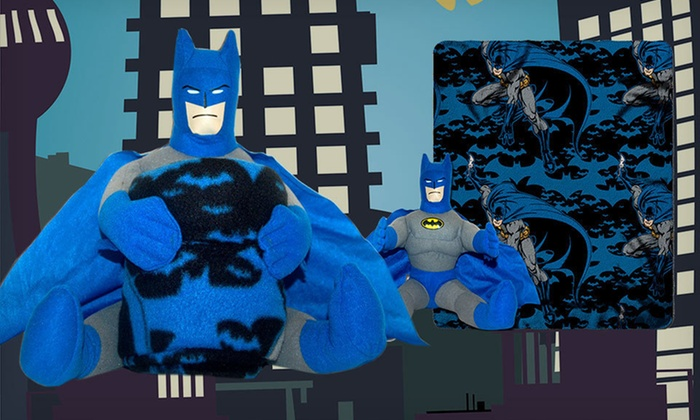 Batman Hugger Pillow with Throw: $18 for a Plush Batman Hugger Pillow with a Fleece Throw Blanket ($29.99 List Price). Free Shipping and Free Returns.