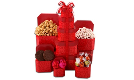 Hugs and Kisses Valentine's Gift Tower