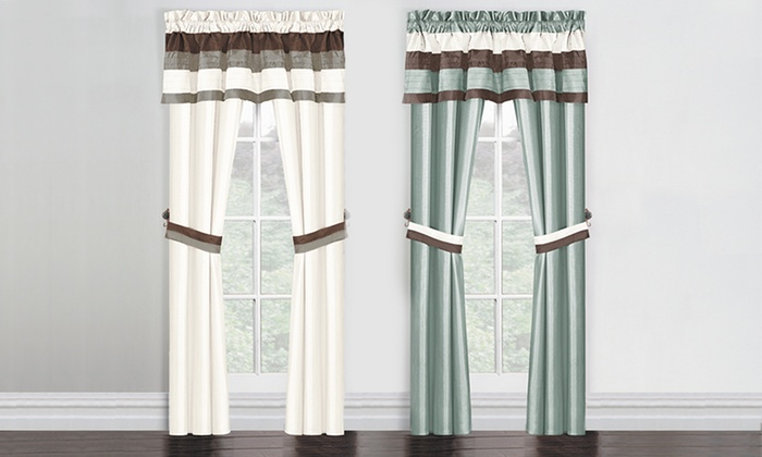 Monte Carlo 5-Piece Window Set: $16.99 for a Monte Carlo Window-in-a-Bag Set ($70 List Price). Multiple Colors Available. Free Shipping and Returns.