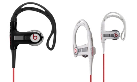 groupon daily deal - Beats by Dre Powerbeats In-Ear Sport Headphones in Black or White. Free Returns.