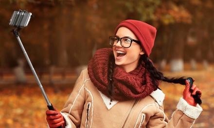 Selfiestick voor smartphones, optioneel met afstandsbediening