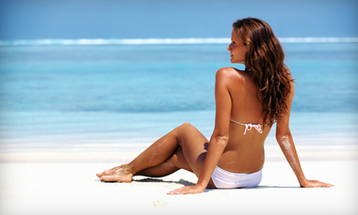 Hollywood Tans - Shadyside: Five or 10 Tanning-Bed Sessions or Three or Five Mystic Spray Tans at Hollywood Tans (Up to 62% Off)