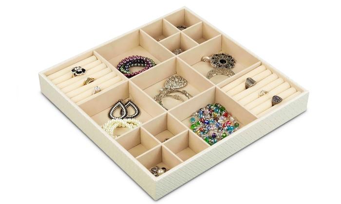 home basics jumbo jewelry organizer groupon