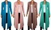 Long Draped Summer Assorted Color Cardigans: Women's Long Draped Summer Cardigans