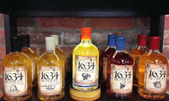 1634 Meadery - Ipswich: Guided Meadery Tour with Souvenir Glasses for Two, Four, or Six at 1634 Meadery (Up to 63% Off)