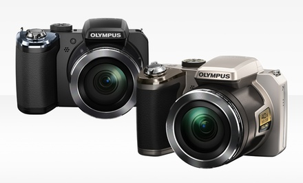 Olympus 14-Megapixel 40x Optical-Zoom Digital Camera in Black or Silver (SP-820)