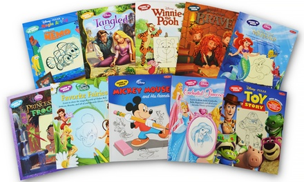 Disney 10 Book Drawing Set