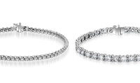 GROUPON: 2–8 CTTW EGL Certified Round Diamond Tennis Br... 2–8 CTTW EGL Certified Round Diamond Tennis Bracelets