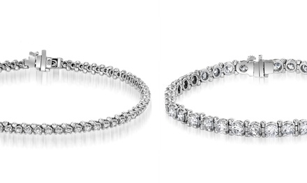 2–8 CTTW EGL Certified Round Diamond Tennis Bracelets in 14K White Gold from $2,999.99–$11,999.99