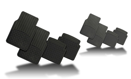 4-Piece Set of Trim-to-Fit All-Weather Vinyl Floor Mats
