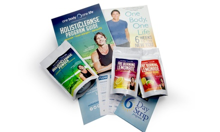 One Body One Life 7-Day HolistiCleanse Detox Program, Weight-Loss Supplement, and E-book
