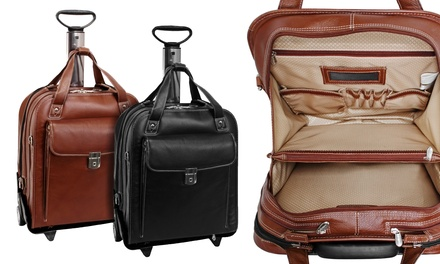 Siamod Vernazza Pastenello Leather Vertical Detachable-Wheeled Laptop Case