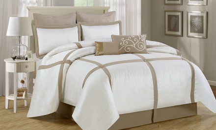 8-Piece Block Comforter Set