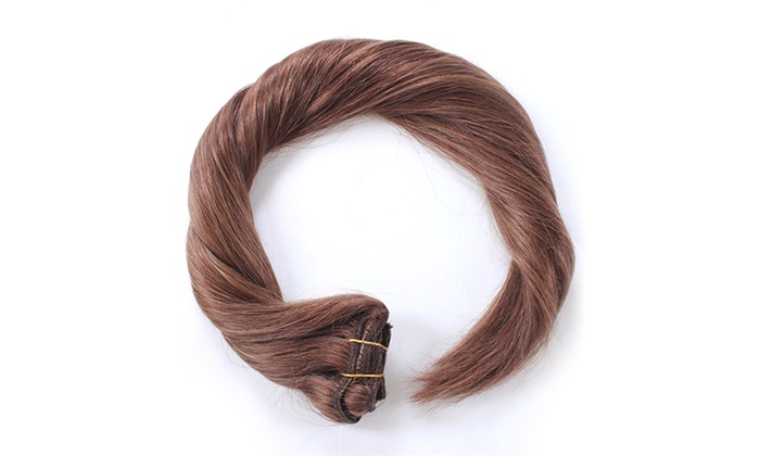 100 human remy hair extensions groupon goods pmusecretfo Gallery
