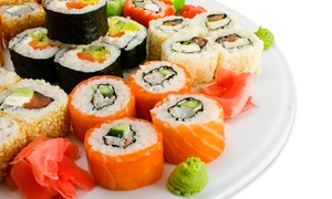 Aroma Restaurant and Sushi: Asian Cuisine and Sushi at Aroma Restaurant and Sushi (50% Off).