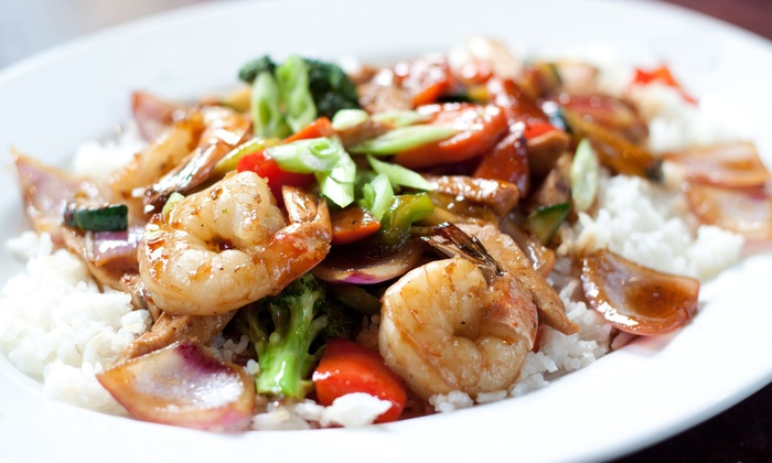 Chef Express - Saskatoon: Chinese Meal with 2 Appetizers, 4 Entrees, and Rice, or Pizza Meal with Pasta and Salad at Chef Express (Up to 51% Off)
