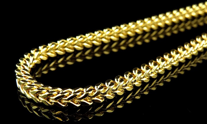 yellow product chains chain curb link cuban gold solid necklace mens heavy inch