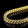 Solid 14K Gold Men's Franco Chain Necklace