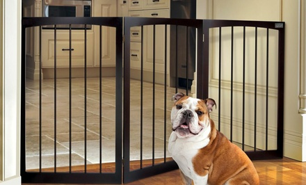 Animal Planet Folding Wooden Pet Gate